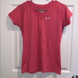 Under Armour Semi-Fitted Hot Pink V-Neck